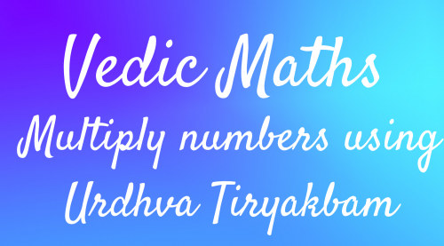 VM 10 – Multiplication using Urdhva Tiryakbhyam